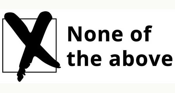 'None of the above' should be a valid ballot choice