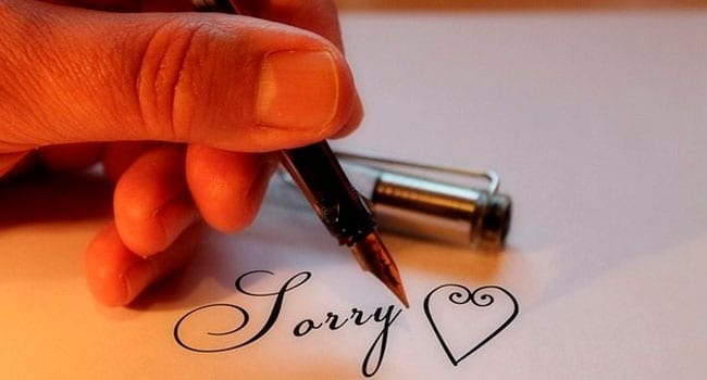 Sorry is more than just a word: show that you mean it