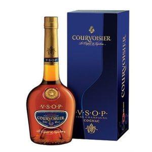 A bottle of VSOP Courvoisier Cognac