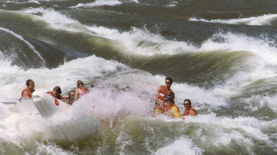 Whitewater runs in the veins at Kumsheen Rafting Resort