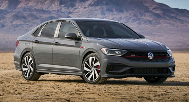 The Anniversary Edition 2019 Volkswagen Jetta GLI has three-setting heated leather seats and they work a treat. It also has decent trunk room.