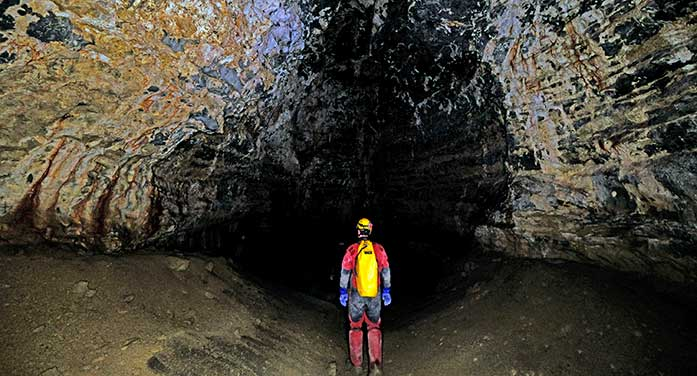 Permafrost cave