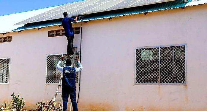 solar panels Hanaano General Hospital Dusamareb Somalia
