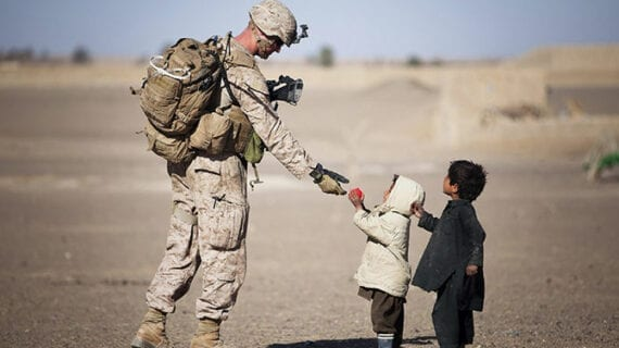 We can buy weapons or educate children all over the world