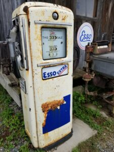 connectour old gas pump bicycle, wawa, ontario, store