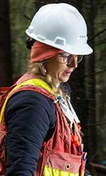 Forestry student Joelle Gagne