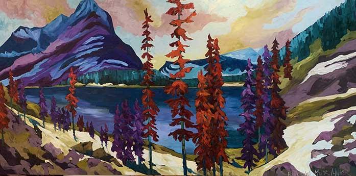 Splendour-Mt.-robson-berg-lake-BC-oil-painting art